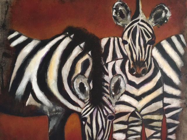 Zebras 70 x 80
